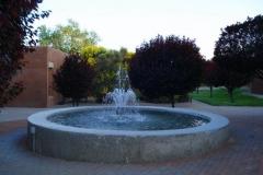 A plaza fountain