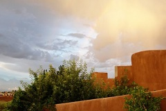 La Luz home with monsoon cloud
