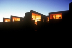 La Luz homes at dusk