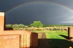 Rainbow arcing La Luz