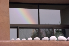 Rainbow reflected in a La Luz window