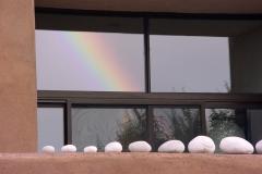 Rainbow reflected in a La Luz window