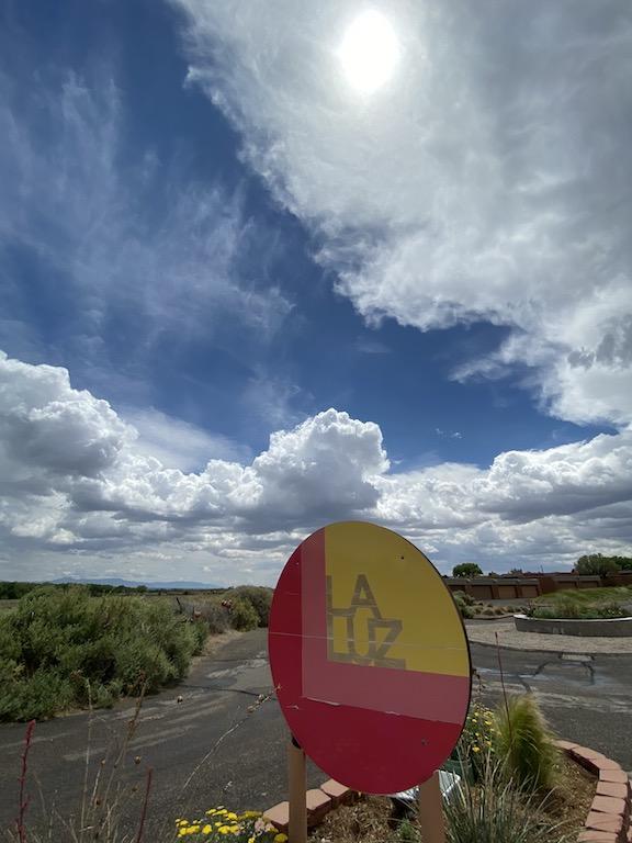 La Luz entrance against vast sky