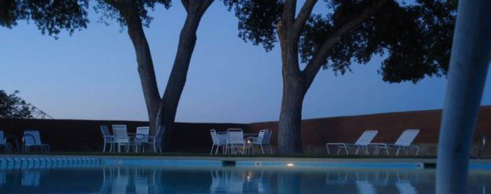 La Luz swimming pool at night