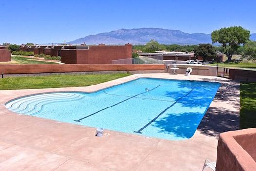 La Luz swimming pool in daylight